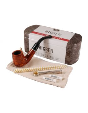 BigBen Smoking Set light brown classic bent