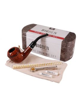 BigBen Smoking Set light brown dublin bent