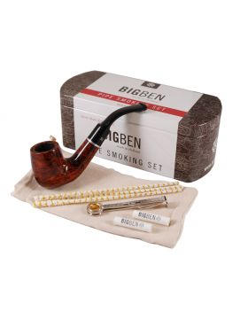 BigBen Smoking Set brown classic bent