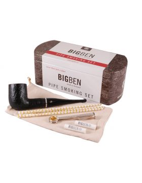 BigBen Smoking Set sandblast straight