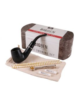 BigBen Smoking Set sandblast classic bent