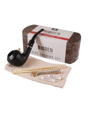 BigBen Smoking Set sandblast dublin bent