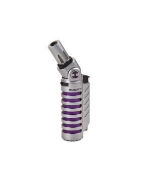 Bugatti lighter Vulcan chrome satin / purple