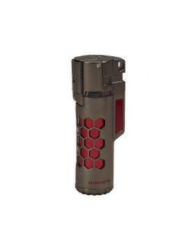 Bugatti lighter Mirage gun satin / red honeycomb