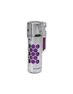 Bugatti lighter Mirage chrome satin / purple honeycomb