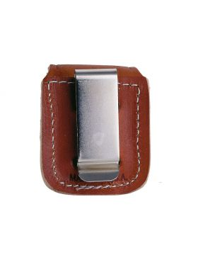 Zippo Lighter Pouch Brown w/ Clip