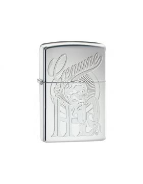 Zippo #250 high polish chrome Harley Davidson Genuine