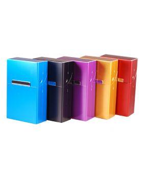 Sigarettenbox KS 20 stuks alluminium gekleurd (10)
