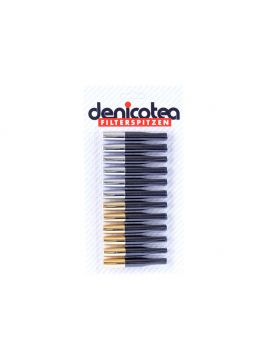 Denicotea sigarettenpijpje    kort goud/chroom (12)