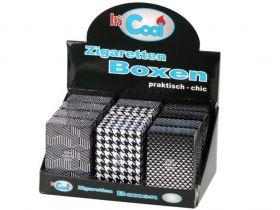Sigaretten box Cool pop up  zwart/wit ass. 20KS  (12)