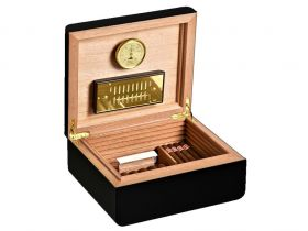 Adorini Carrara M Deluxe (Black)  - for 75 cigars