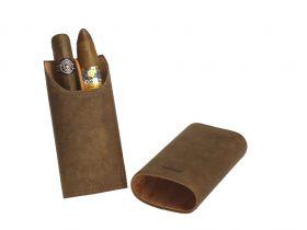 Adorini sigarenetui leder bruin (2-3 sticks)