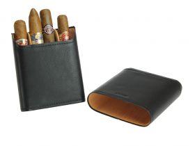 Adorini sigarenetui leder zwart (3-5 sticks)