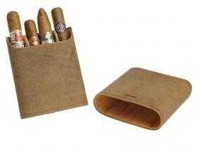 Adorini sigarenetui leder bruin (3-5 sticks)