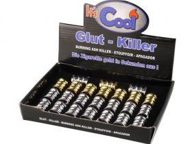 sigarettendover ribbel open (16 allu - 8 goud)