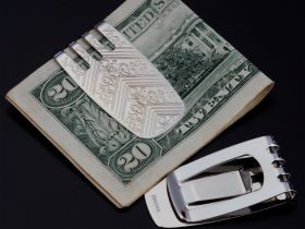 Sarome moneyclip chroom flame design
